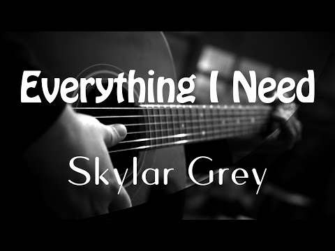 Everything I Need - Skylar Grey Ost Aquaman ( Acoustic Karaoke )