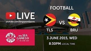 Football Timor Leste vs Brunei Preliminary round of 28th SEA Games Singapore 2015 (3 June 2015) at Bishan Stadium...