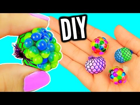 DIY Mini Stress Balls! Orbeez & Mesh Slime Stress Ball Miniatures!