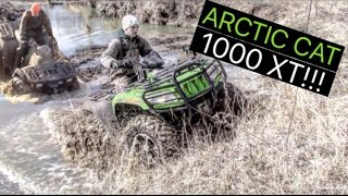 2. ARCTIC CAT 1000 XT!!! & Polaris Sportsman 500 4X4 Mudding!!!