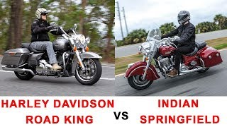 4. 2017 Harley Davidson Road King vs 2017 Indian Springfield-Specifications