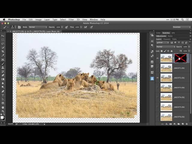 Photoshop-tutorial-auto-align-layers