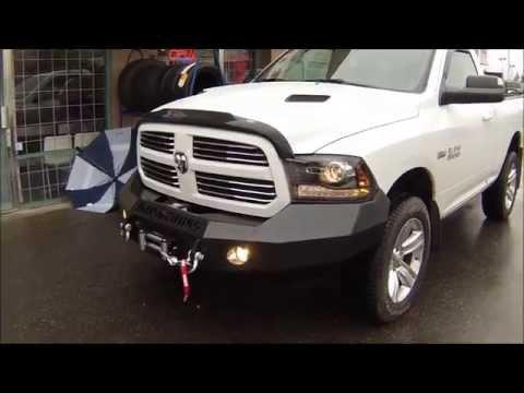 Iron Cross bumper and Warn winch Dodge Ram 1500 at Dales Auto Service, Surrey BC, Canada