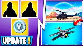 *NEW* Fortnite Update! | New Rewards + Vbucks, Plane Changes Gameplay, Helicopter!