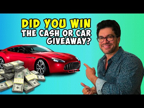 ‪💸🚘 Did You Win The Cash Or Car Giveaway?‬‏