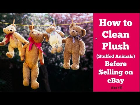 How to Clean Plush and Stuffed Animals Before Selling on eBay