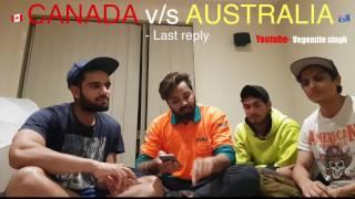 CANADA v/s AUSTRALIA Students ....