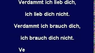 VERDAMMT ICH LIEB DICH - Matthias Reim - (Karaoke CD+G)
