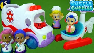 Video RARE Bubble Guppies Clambulance Rescue Copter Check Up Center Ambulance Bus Doctor Goby & Dr Molly! MP3, 3GP, MP4, WEBM, AVI, FLV April 2018
