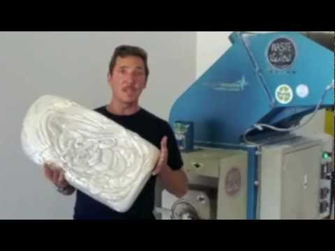 EPS Foam Densifier - Check out the Waste to Waves recycling program from Sustainable Surf!