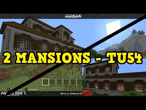Minecraft Xbox 360 / PS3 TU54 - DOUBLE WOODLAND MANSIONS
