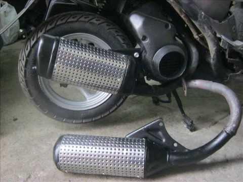 Тюнинг глушителя на скутер