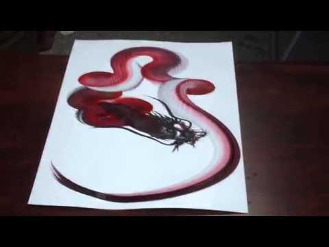 Chuyện lạ Vẽ tranh rồng uốn lượn chỉ bằng một nét 2