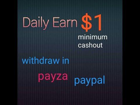 Online  free earning minimum $1 cashout