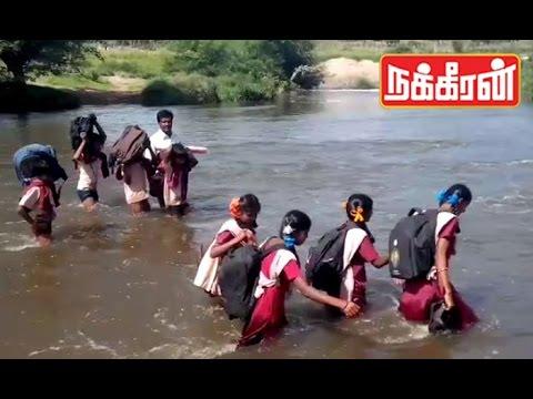 Students-crossing-flooded-river-Dangerous-school-Journey-in-Hosur