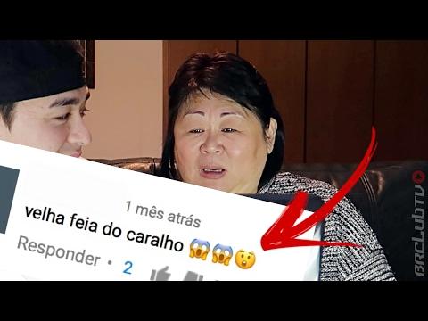 MINHA MÃE REAGINDO AOS COMENTÁRIOS DO VIDEO DELA