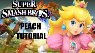 Super Smash Bros for Wii U Peach tutorial/ guide/ analysis/