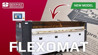 Flexomat - Corrugated cardboard flexographic printer.