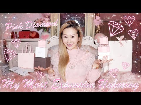 MY MOST EXPENSIVE UNBOXING EVER 😱💎 I GOT MYSELF A PINK HEART DIAMOND RING 💖💍 SO IN LOVE ❤️🥰 LINDIESS