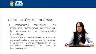 UTPL PSICOPATÍAS Y DELINCUENCIA [(CIENCIAS JURÍDICAS)(CIENCIAS PENALES)]