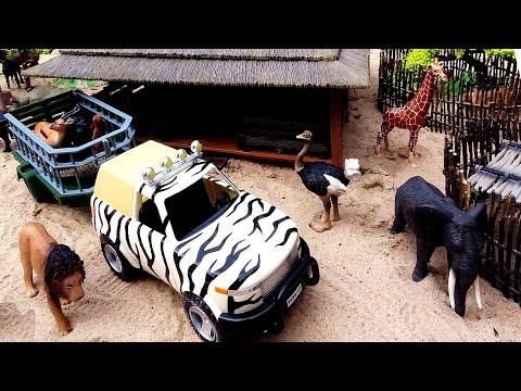 Safari Animal Figurines and Fun Playsets