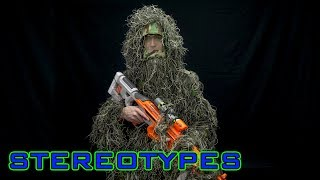Nerf Stereotypes episode on the Sniper!This episode supported by Evike: http://www.evike.com/ - - - - - - - - - - - - - - - - - - - - - - - - - - - - - -Ghillie suit: http://www.evike.com/products/24871/Magazine holder: http://www.evike.com/products/64846/