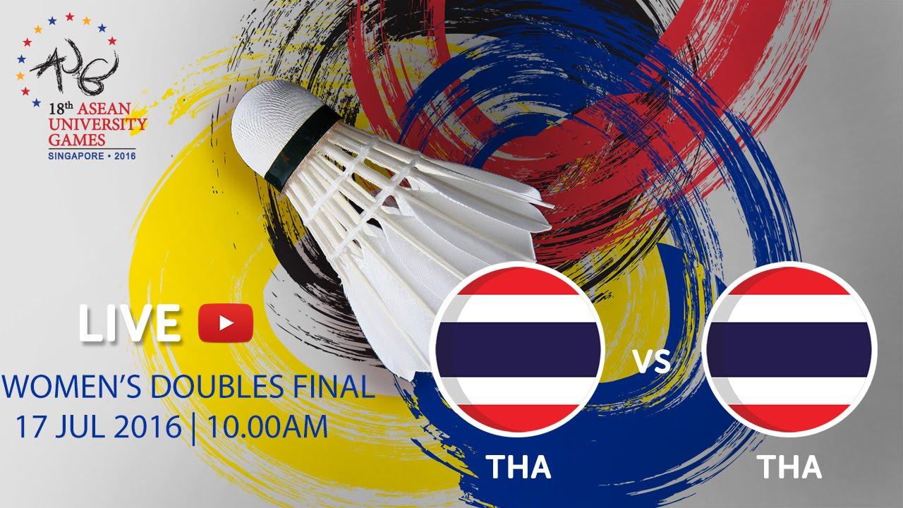 Badminton Women's Doubles Finals | 18th ASEAN University Games Singapore 2016