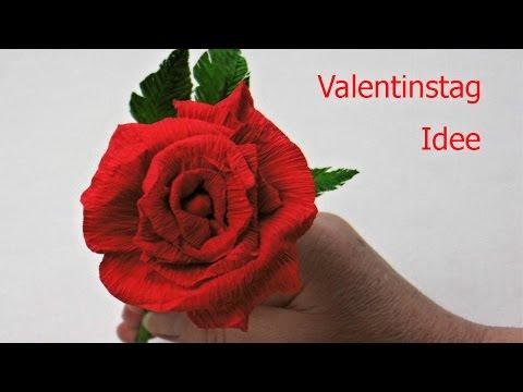 Diy Valentinstag Geschenk ❁ Rose aus Krepppapi ...