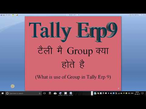 WHAT IS GROUP IN TALLY ERP9
