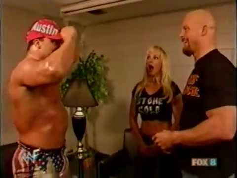 Debra - A Classic backstage segment between Stone Cold & Kurt Angle.