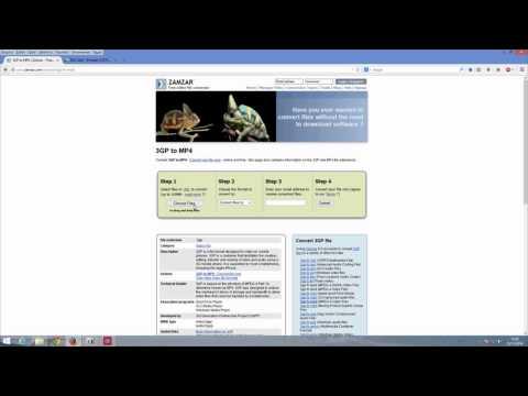 Como converter arquivo .3gp para mp3 mp4 ou outro formato facilmente (видео)
