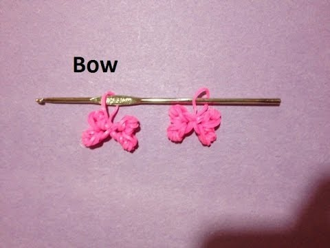 How to Make Rainbow Loom Bow Charm Just Using a Crochet Hook – Original Design