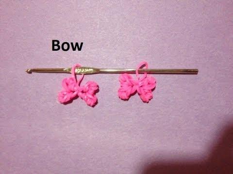 How to Make Rainbow Loom Bow Charm Just Using a Crochet Hook – Original Design