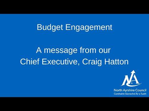 Budget presentation by Chief Executive