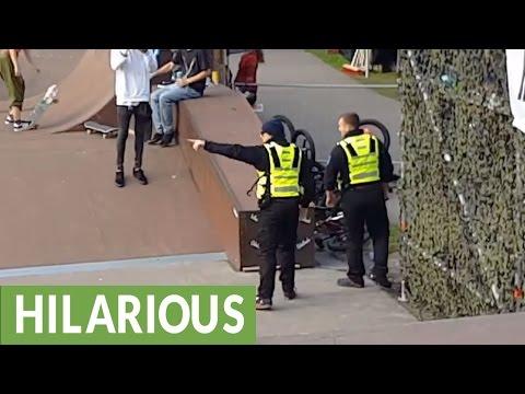 BMX騎士因不聽從勸告,在場保安只好用這招來進行懲罰…屆時全場都歡呼了!