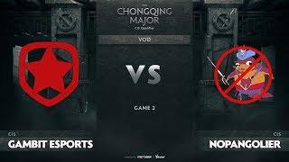 Gambit Esports vs NoPangoliers, Game 2, CIS Qualifiers The Chongqing Major