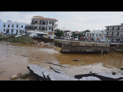 Μεγάλες ζημιές από την κακοκαιρία στη Σκόπελο