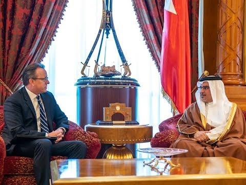 سمو ولي العهد يلتقي سعادة السيد جاستين سيبيريل سفير الولايات المتحدة الأمريكية لدى مملكة البحرين