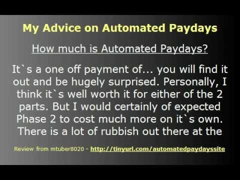 Video: Automated Paydays Review – this is not a Course for Internet Marketing, this is an Education System