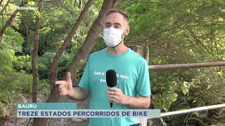 Professor de Bauru percorre 13 estados de bicicleta