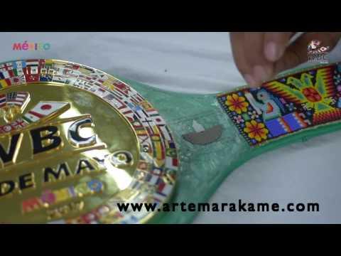 Canelo v Chavez Jr: WBC Cinturon Huichol el proceso (belt)
