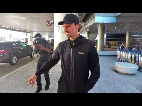 Zlatan Ibrahimovic Saves The Paparazzi From Stepping In Vomit At LAX Airport!