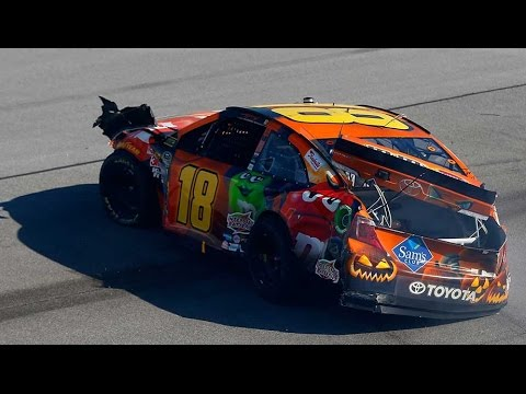 At - Chase contender Kyle Busch gets caught in the middle of a multi-car wreck at Talladega Superspeedway. For more NASCAR news, check out: http://www.NASCAR.com.