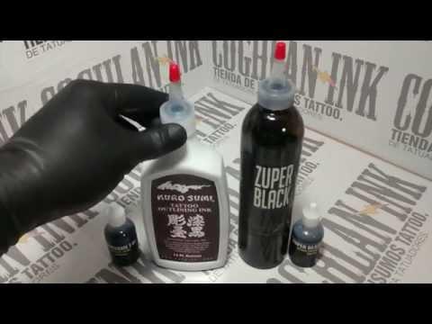 Tinta Tattoo: Kuro Sumi para lineas y Zuper Black para relleno.