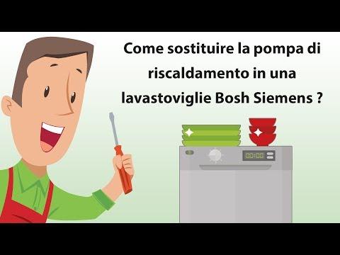 Come sostituire la pompa di riscaldamento in una lavastoviglie Bosh Siemens ?