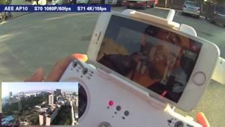 AEE AP10 Drone quadcopter flying camera show
