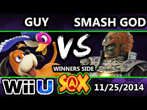 S@X - Guy (Duck Hunt) Vs. VGz | Smash God (Ganondorf) SSB4 Singles - Smash 4 - Smash Wii U