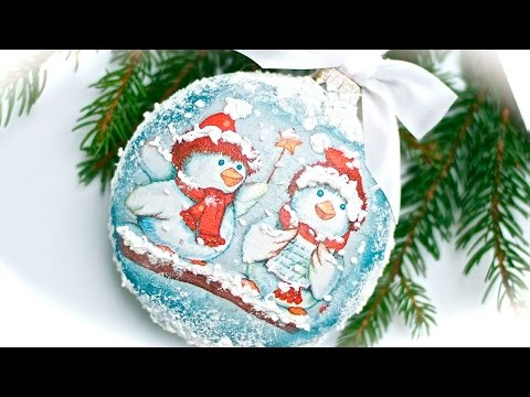 decoupage - pallina natalizia