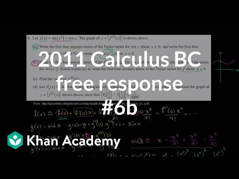 2011 Calculus BC Free Response 6b Video Khan Academy