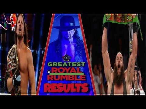 WWE GREATEST ROYAL RUMBLE FULL SHOW RESULTS (GREATEST ROYAL RUMBLE 2018 RESULTS)